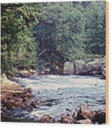 Rocky River Wood Print