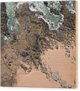 Rocky Shoreline Abstract Cape Woolamai Wood Print by Rob Huntley