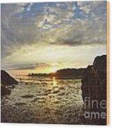 Sunrise Wood Print by Stephanie  Varner