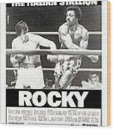Rocky, Us Poster, Sylvester Stallone Wood Print