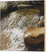 Rocky Waters Wood Print