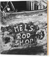 Rod Shop Truck Wood Print