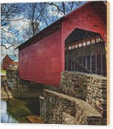 Roddy Road Covered Bridge Wood Print
