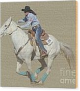 Rodeo 44 Wood Print