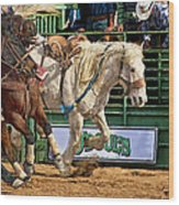 Rodeo Action Wood Print