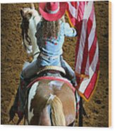 Rodeo America - Land Of The Free Wood Print