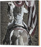 Rodeo America Wood Print