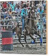Rodeo Cowgirl Wood Print by Gary Keesler