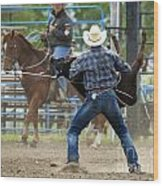 Rodeo Easy Does It Wood Print