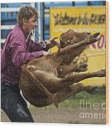 Rodeo Fit To Be Tied Wood Print