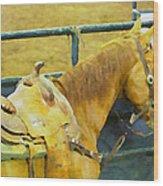 Rodeo Horse Wood Print