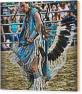 Rodeo Indian Dance Wood Print
