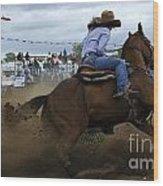 Rodeo Ladies Barrel Race 1 Wood Print