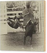 Rodeo Learning To Fly Wood Print