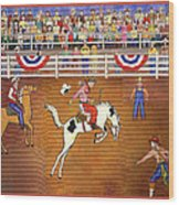 Rodeo One Wood Print