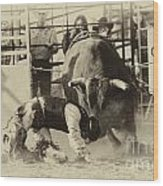 Rodeo Prepared To Be Punished Wood Print