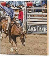 Rodeo Ride Wood Print