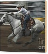 Rodeo Riding A Hurricane 1 Wood Print