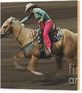 Rodeo Riding A Hurricane 2 Wood Print