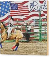 Rodeo Wood Print by Terry Cotton