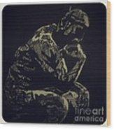 Rodin Wood Print