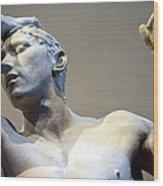 Rodin's The Vanguished Up Close Wood Print