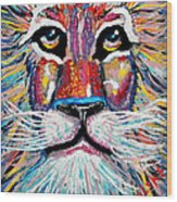 Rodney Abstract Lion Wood Print