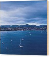 Rodney Bay Morning Blues Wood Print