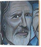 Roger Alan Wade Kris Kristoferson Billy Joe Shaver Wood Print