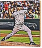 Roger Clemens Painting Wood Print