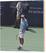 Roger Federer After 1st Slam Wood Print