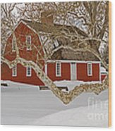 Roger Williams Cottage In Winter Wood Print