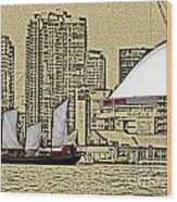 Roger's Centre And Tall Ship Wood Print
