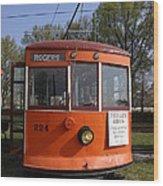 Rogers Trolley Wood Print