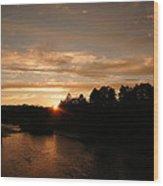 Rogue August Sunset Wood Print