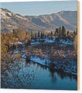 Rogue River Winter Wood Print