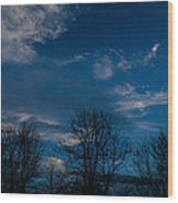 Rogue Valley Winter Eve Wood Print