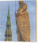 Roland Of Riga Painting Wood Print
