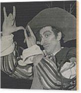 "Roland Petit, Makes ""cyrano De Bergerac"" Into A Ballet Wood Print"