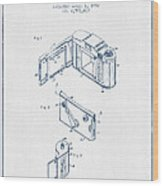 Roll Film Camera Patent From 1952- Blue Ink Wood Print