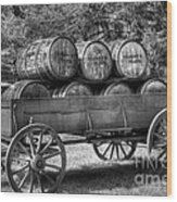Roll Out The Barrels Wood Print