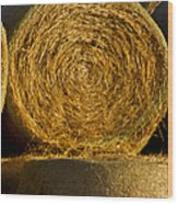Rolled Hay   #1074 Wood Print