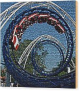 Roller Coaster 2 Wood Print