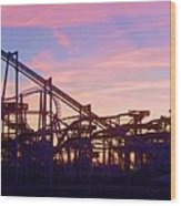 Roller Coaster At The  Nj Shore Wood Print