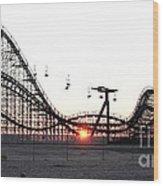Roller Coaster Wood Print