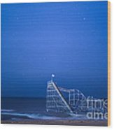 Roller Coaster Stars Wood Print by Michael Ver Sprill