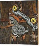 Roller Skates Vintage 4 Wood Print