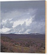 Rolling Clouds- Rolling Hills Wood Print