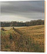 Rolling Field Wood Print