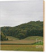 Rolling Fields Wood Print